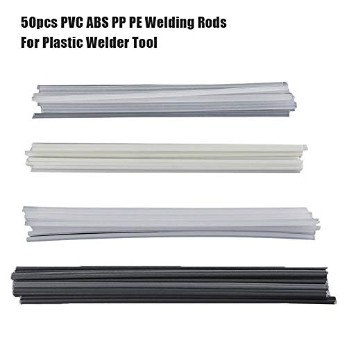 (Plastic Welding Rods - 50Pcs ABS/PP/PVC/PE Welding Sticks, Soldering Supplies for Bumpers (13PCS ABS + 13PCS PVC + 12PCS PP + 12PCS PE))