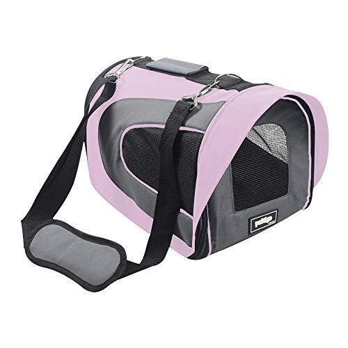 Bolsa de Transporte Para Cabine de Avião para Cães e Gatos (Pequena, Rosa), Pandora Pet&Go
