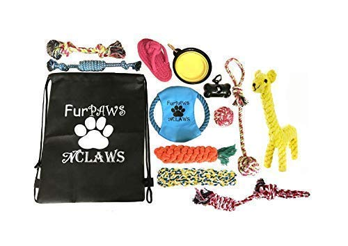 Shop 2 Save Strong Dog Toys Durable Rope Teething CHEW Toys Outdoor Frisbee, WASTEBAG Keychain Holder, Giraffe, Carrot, Free Backpack Included: Puppy, Small, Medium, and Large Dogs Playtime!