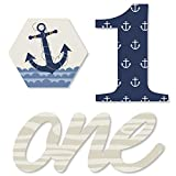 1st Birthday Ahoy - Nautical - DIY Shaped First Birthday Party Cut-Outs - 24 Count
