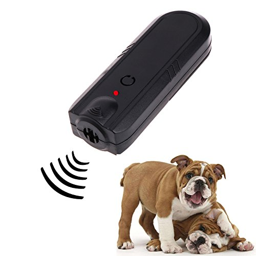 Dog Repellent, Ultrasonic Handheld Infrared Dog Deterrent, Bark Stopper + Good Behavior Dog Training Device (Sonic Barking Deterrents) (5)