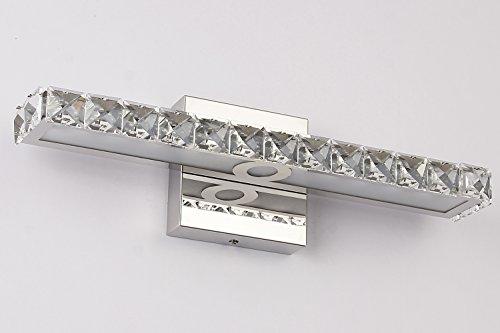 JUSHENG 16W Bathroom Vanity Light, LED Crystal Bathroom