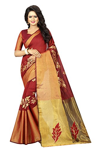 Snerks Collection Designer Saree Wear for Women with Blouse Piece _Saree Fabric_ Cotton Silk _ Blouse Fabric_ Cotton Silk (Best Designer Saree Collection)