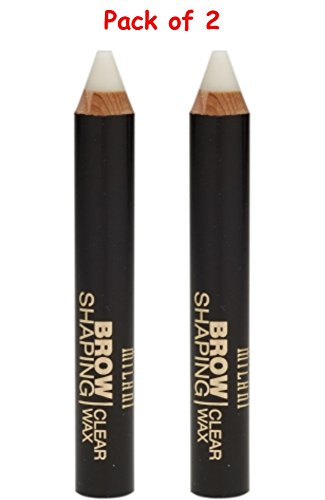 Milani Brow Shaping Clear Wax 0.09 oz Pack of 2