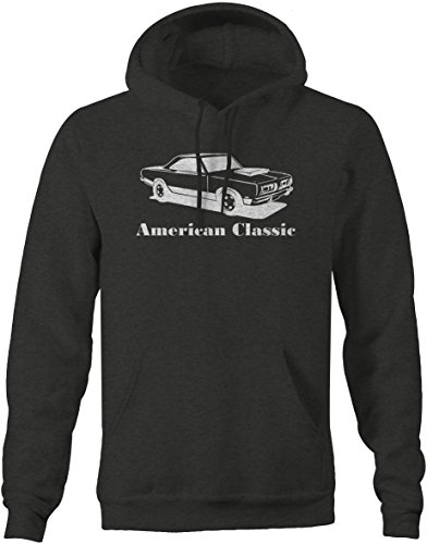 American Classic Plymouth Mopar Barracuda 'Cuda Muscle Car Sweatshirt - (Plymouth Charcoal)