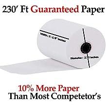 "3-1/8 x 230' (50 Rolls) Thermal Paper 3"" diameter Cash Register Rolls BPA Free"