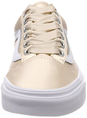 b1d52a2e45a5 Vans Women s Old Skool Trainers Pink ((Satin Lux) Blush True White R1g) 8.5  UK  Amazon.in  Shoes   Handbags