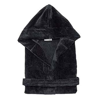 terry velour hooded bathrobe 0 cotton men 39 s women 39 s robe best gift for her black. Black Bedroom Furniture Sets. Home Design Ideas