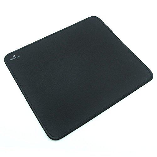 Reflex Lab Mouse Pad/Mat, (Black) Stitched Edges, Waterproof, Ultra Thick 3mm, Silky Smooth - 9