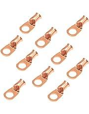10pcs Purple Copper Terminal Lugs Battery Cable Tubular Lug Ring Terminal Connectors