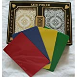 2 Free Cut Cards + KEM Arrow Black Gold Playing Cards Poker Size Regular Index