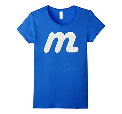 M And M Costume (Womens M Candy Halloween Costumes T-shirt Small Royal Blue)