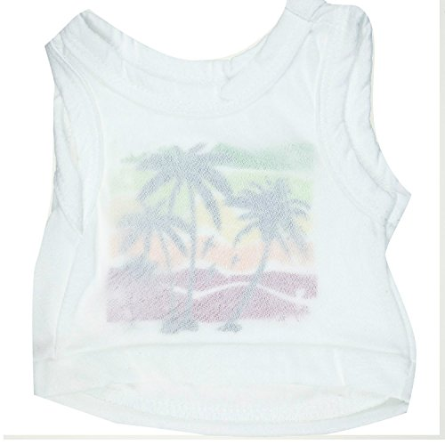 Ollypet Dog T-Shirt Tropical Beach Pet Vest Holiday Style L