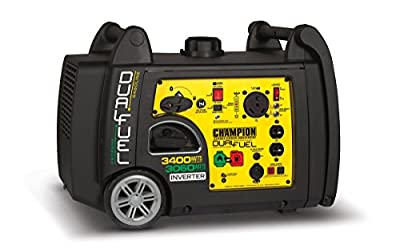 Champion Power Equipment 100263 3400 Watt Dual Fuel RV Ready Portable Inverter Generator with Electric Start