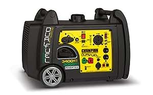 Champion Power Equipment 100263 3400 Watt Dual Fuel RV Ready Portable Inverter Generator with Electric Start