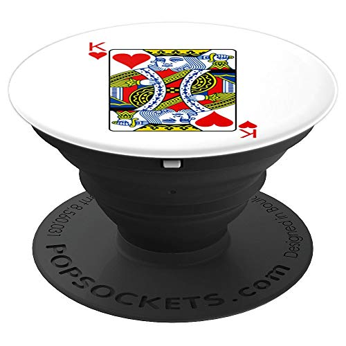 King Of Hearts Playing Card Group Costume Poker Player PopSockets Grip and Stand for Phones and Tablets]()