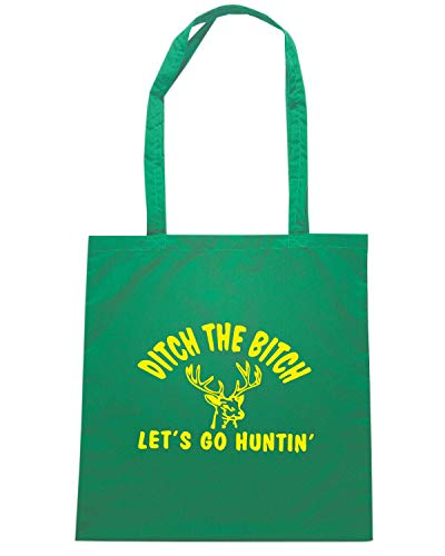 Speed Shirt Borsa Shopper Verde FUN0416 1627 LETS GO HUNTING DIE CUT 61820