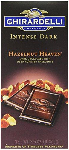 Ghirardelli Chocolate Intense Dark Bar, Hazelnut Heaven, 3.5-Ounce Bars (Pack of 6)
