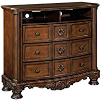 Ashley North Shore Media Chest in Dark Brown