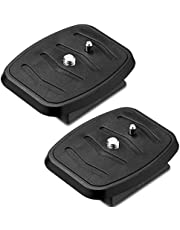 2 Pieces Tripod Quick Release Plate Tripod Adapter Mount Camera Tripod Adapter Plate Parts for Tripods and Cameras Tripod Mount QB-4W (43 x 43 mm/ 1.7 x 1.7 Inch)