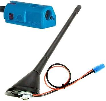 Antena de varilla para techo de coche, con base de junta tórica, 12 V, adaptador de radio FM/AM