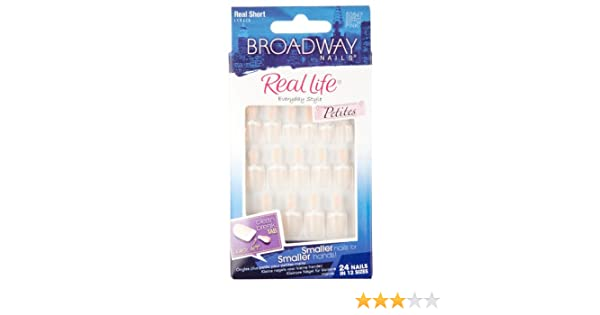 Amazon.com : Broadway Nails Nail Kit, Petites, Real Short Length, Pink BSFP02 1 kit : False Nails : Beauty