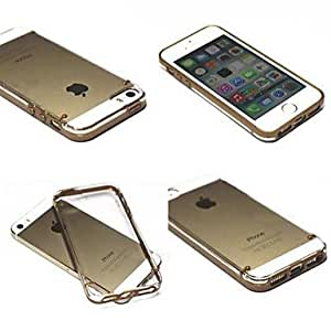 LCJ Gold Crystal Clear Cover Hard Case for iPhone 5/5S
