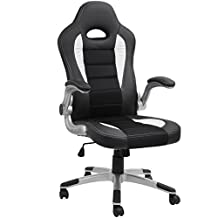 Barton Executive Computer Desk Chair, Racing Car Gaming Chair (black)