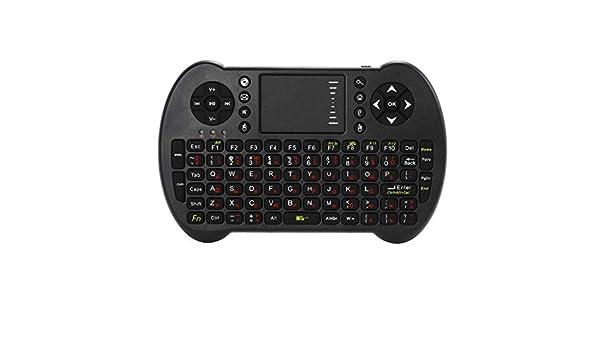 Almencla Mini Teclado Inalámbrico Keyboard Touchpad Iluminado PC Control Remoto 2.4G para Smart TV: Amazon.es: Electrónica