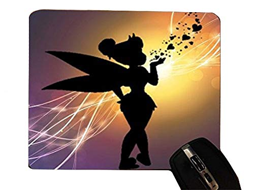 - Cute Fairy Kiss Hearts Design Pattern Print Desktop Office Silicone Mouse Pad by Trendy Accessories