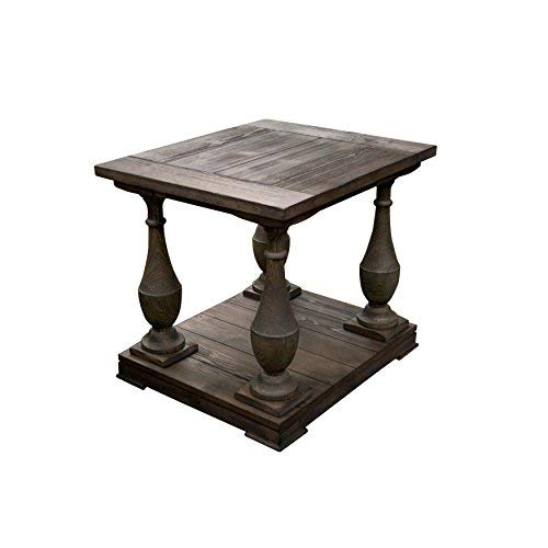 Best Master Furniture FW138 Farryn Rustic End Table, Brown