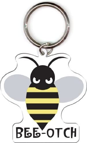 Evilkid Productions Bee-otch Bumblebee Metal Keychain