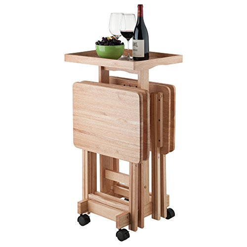 Winsome Wood 42820 Isabelle 6 Piece Snack Table Set, Natural by Winsome Wood (Image #6)