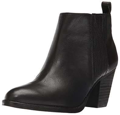 Nine West Women's Fiffi Ankle Bootie, Black Leather, 5.5 M US