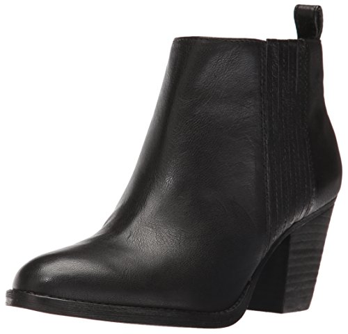 Nine West Women's Fiffi Ankle Bootie, Black Leather, 10.5 M US