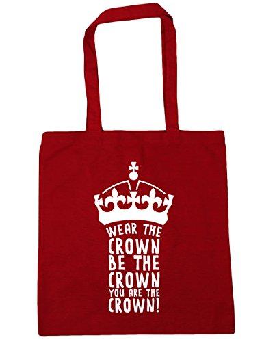 HippoWarehouse llevar la corona se la corona You son la corona Tote Compras Bolsa de playa 42cm x38cm, 10litros Classic Red