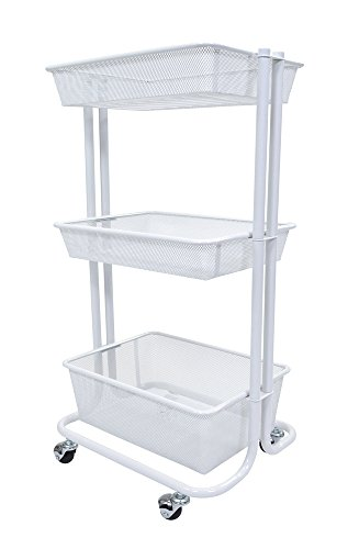 Luxor kitchen utility cart white import it all for Kitchen utility cart