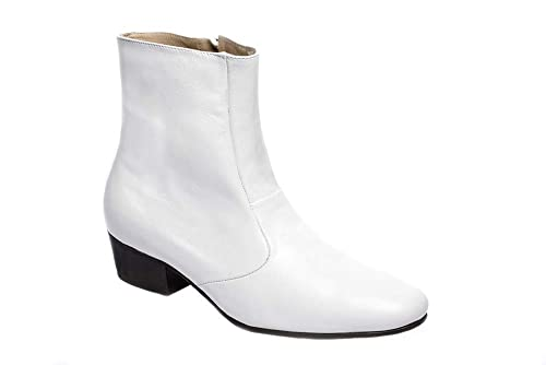 c78bd6b101c Luciano White Boots for Men's Elvis Costumes-100% Leather: Amazon.ca ...