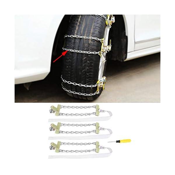 ROSEBEAR 3 Pcs Anti-Dérapant Boue Glace Neige Pneu Chaîne Hiver Sécurité Pneu Ceinture pour Voiture Camion Suv