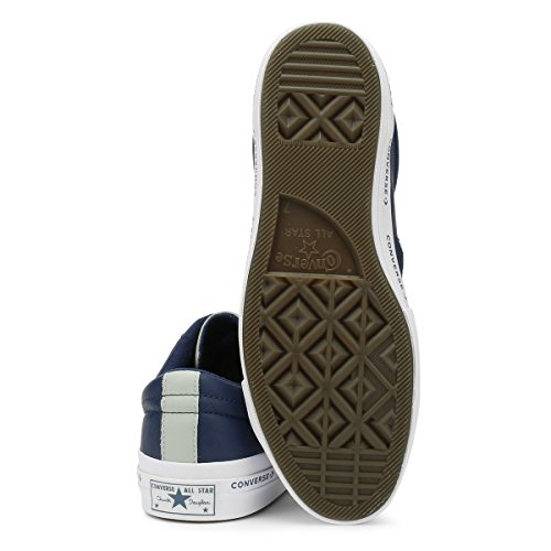 Converse Unisex-volwassenen Levensstijl Ster Rundleer Fitnessschuhe Blau (marine / Gedroogde Bamboe / Wit 426)