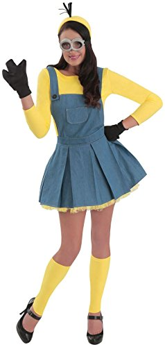 Princess Paradise Women's Minions Deluxe Costume Jumper, As Shown, Medium for $<!--$35.42-->