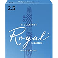 Royal by D'Addario Bb Clarinet Reeds, Strength 2.5, 10-pack