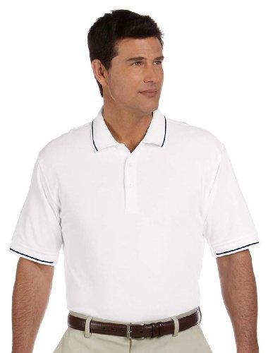 Devon & Jones Men's Pima Piqué Short-Sleeve Tipped Polo XL - Polo Pima Pique Tipped