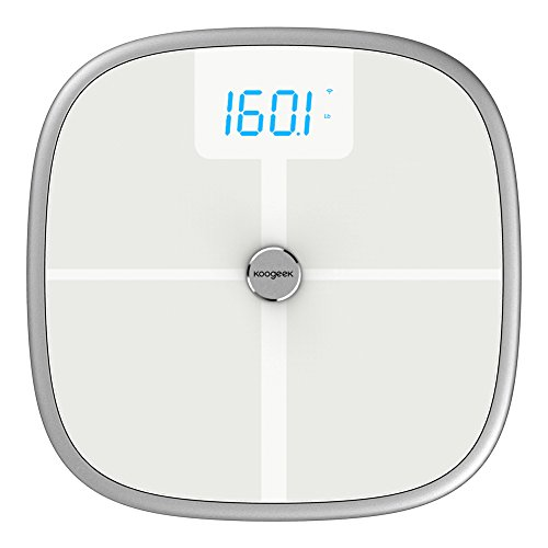 Koogeek Smart Body Scale Bluetooth Wifi Weight Scale with Fitness App,Baby Weighing,8 Body Measurements,16 Users Recognition