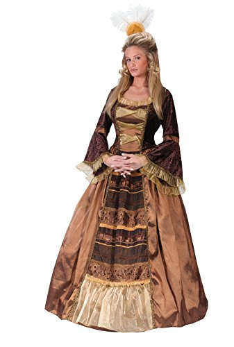 [FunWorld Baroness Diamond Collection, Brown/Gold, 12-14 Large Costume] (Zombie Queen Costumes)