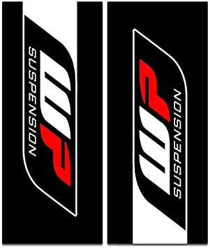 SHOWA - RED//BLACK Enjoy MFG SHOWA Upper Fork Decal Stickers Fit All Dirt Bikes