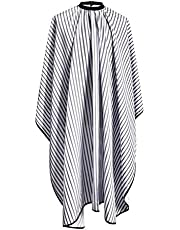 K5 International Hairdressing Cape Professional Barbers Hairdressers Gown for Hair Styling, Hair Cutting, Trimming and Dyeing Colors - Waterproof Full Length Barber Hair Salon Apron Suitable for Men, Women & Kids