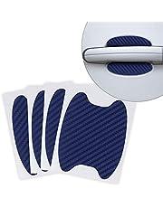 kwmobile 4x Universele lakbeschermingsfolie voor autodeuren - zelfklevend - koolstofbeschermingsfolie Inbouwgrepen zwart - 6,8 x 8,5 cm