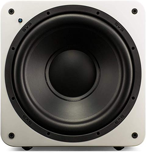 """SVS SB-1000 300 Watt DSP Controlled 12"""" Ultra Compact Sealed Subwoofer (Piano Gloss White)"""