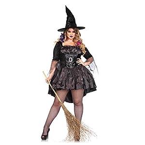 Halloween Plus Size Black Magic Witch Costume